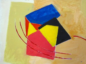 12143  House By Train Tracks 15 x 20 Acrylic on Canvas 72 dpi