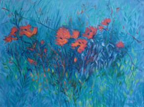 MONETS POPPIES 2011.JPG 36 X 48 __oil