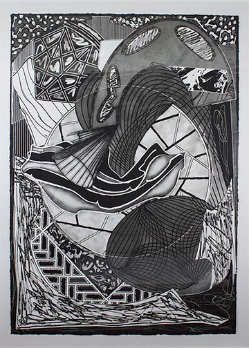 Frank Stella - The Cabin, Ahab and Starbuck (from Moby Dick Engravings)